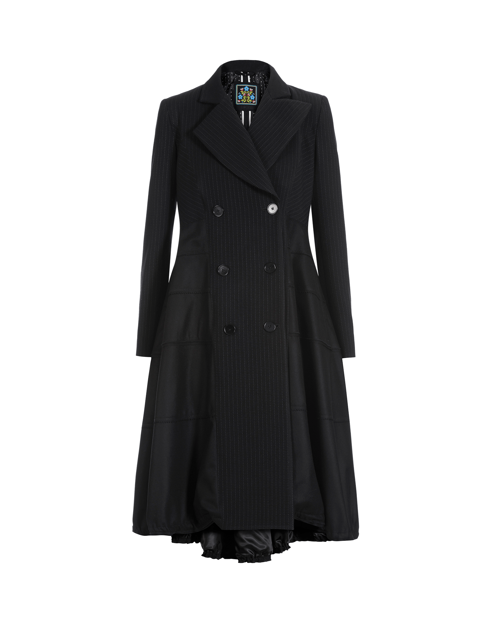 Lange Mantel Aus Wollkaschmirflanell