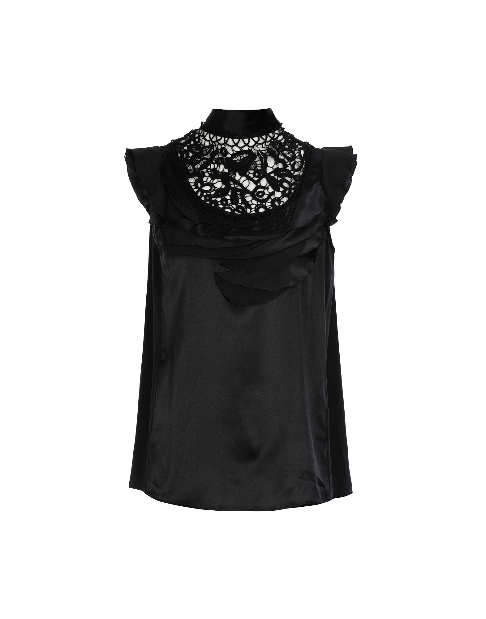 f3547e330 EVOKE. High. High neck top in black silk with