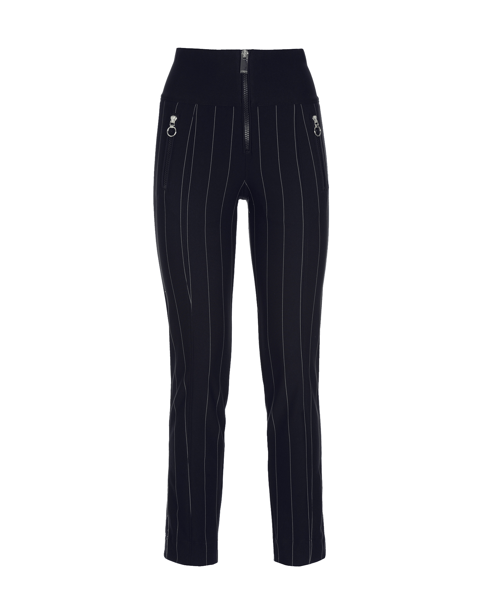 4bcebb3c MINIMALIST. HIGH TECH. Navy and white pinstripe pant with ...