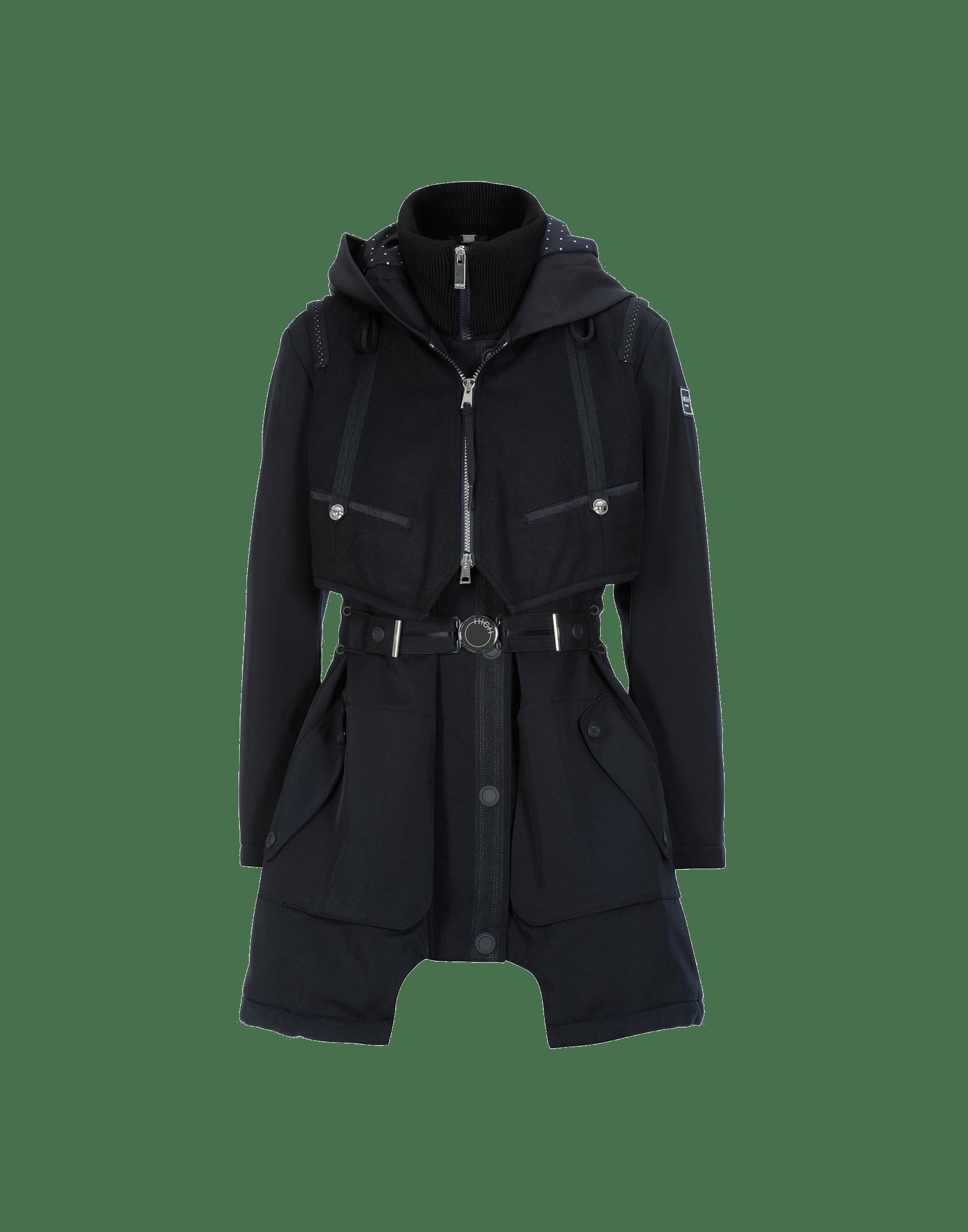 FULL BLAST: Padded hooded gilet parka