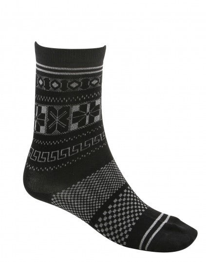 EFFECT: Calzino a caviglia in jaquard misto lana