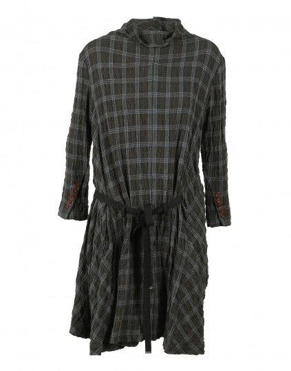 ETERNAL: Vestito-tunica in misto lana con fantasia a quadri