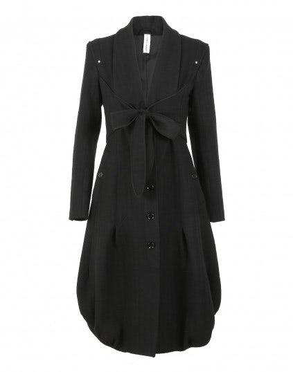"""DUCHESS: Cappotto-abito """"bow-tie"""" in lana stretch misto cotone"""