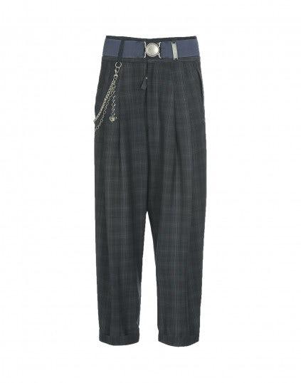 ROOKIE: Pantaloni a vita alta scozzesi