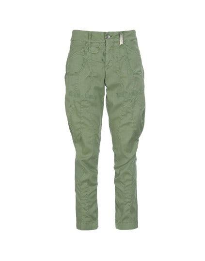 SCARPER: Pantaloni con cuciture diagonali verde mela
