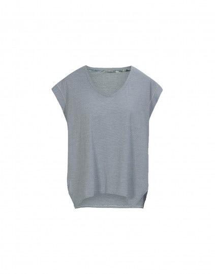 JOB: Top in jersey rigato blu e bianco