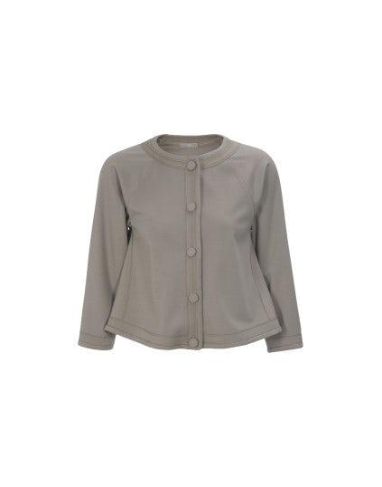 SPAR: Giacca corta in jersey color fango