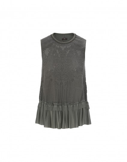 "FLAWLESS: Top ""feminine sporty"", khaki"