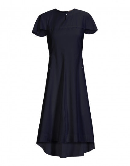 "ABSOLUTE: Fitted dress with shoulder ""cape"""