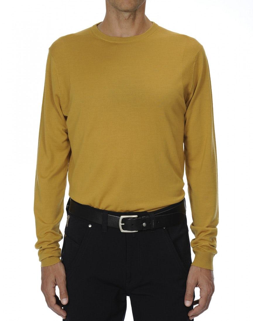 LEIGHTON: Ultra-light wool marigold yellow sweater - All - High ...