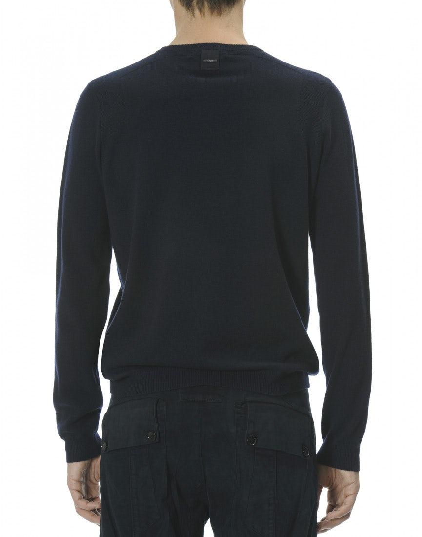 HAMISH: Navy cashmere sweater - HIGH