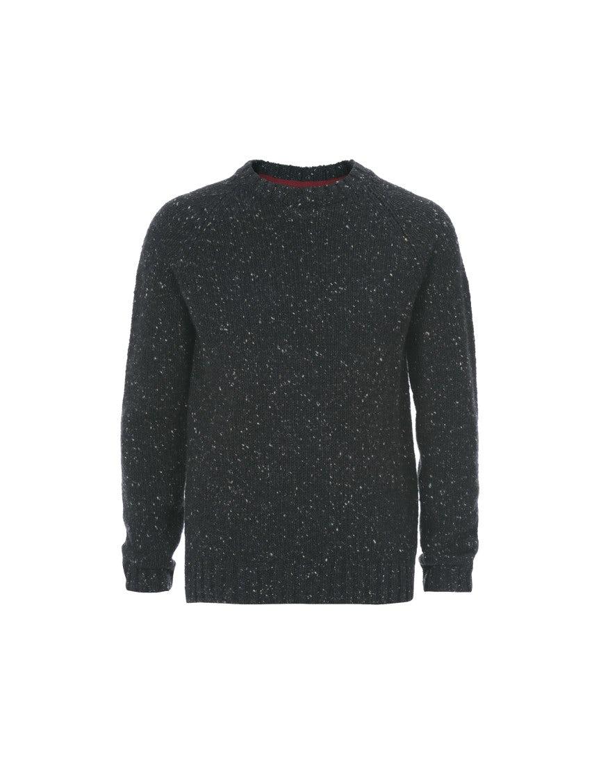 0f89556764 Fraser black donegal tweed yarn knit sweater jpg 865x1100 Black sweater