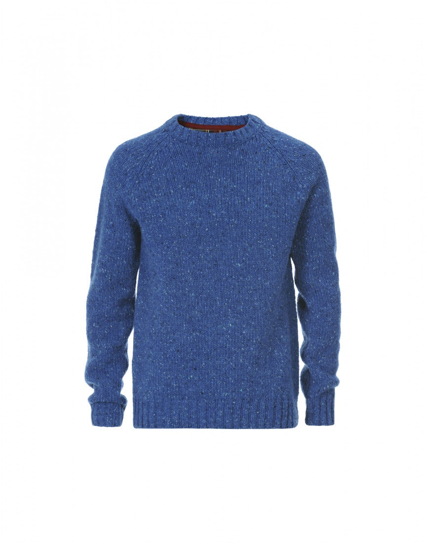 FRASER: Blue Donegal tweed yarn knit sweater - All - High Man ...