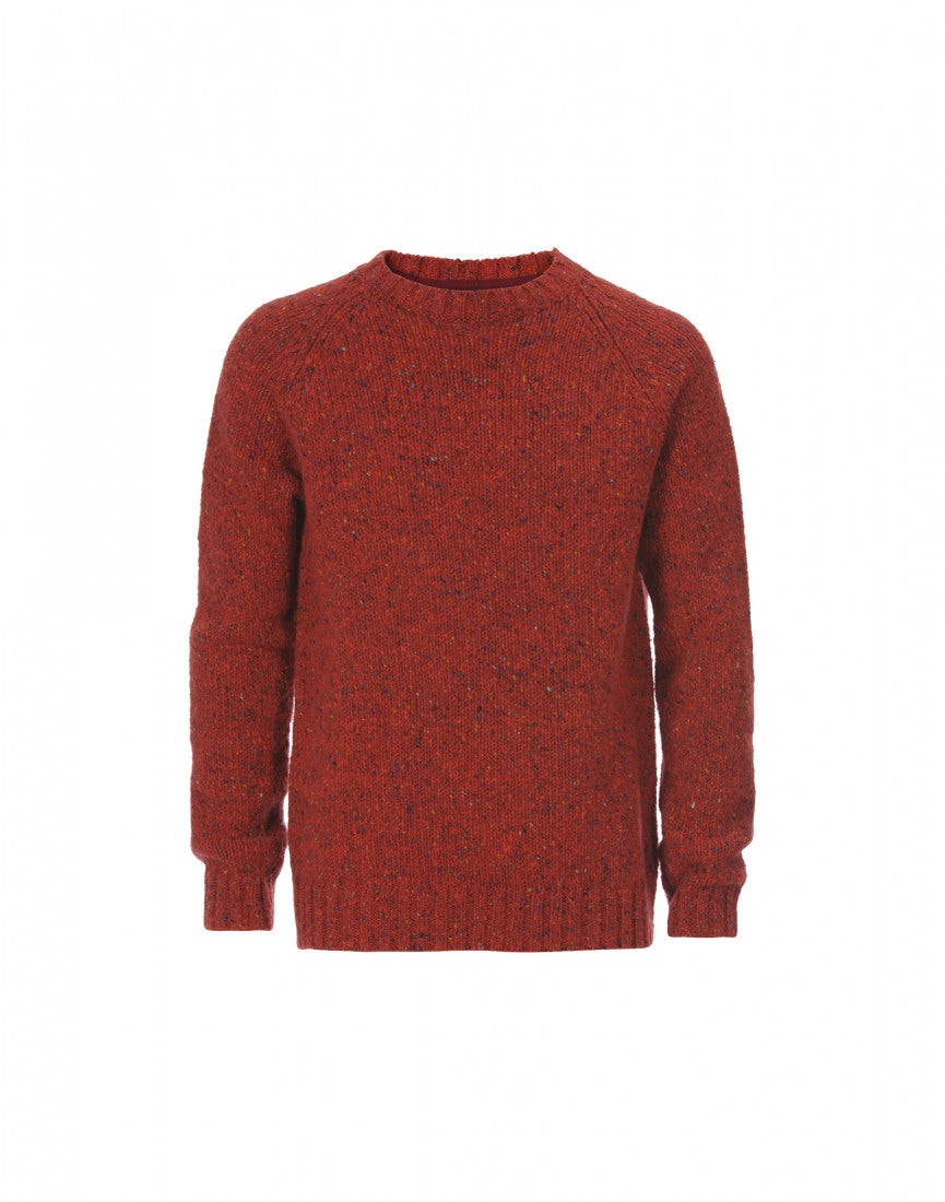FRASER: Red Donegal tweed yarn knit sweater - All - High Man ...