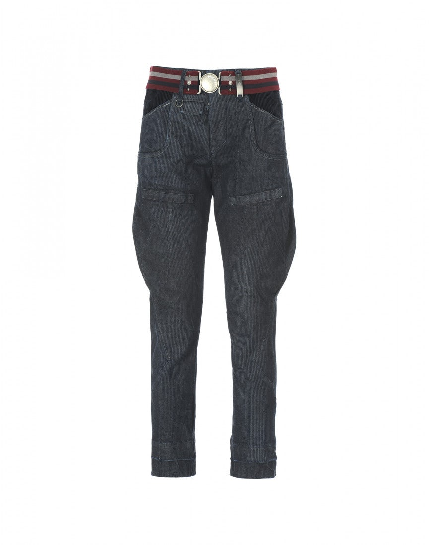 "GEOMETRY  Blaue Jeans ""city stripe"" 6e01fcc2a1"