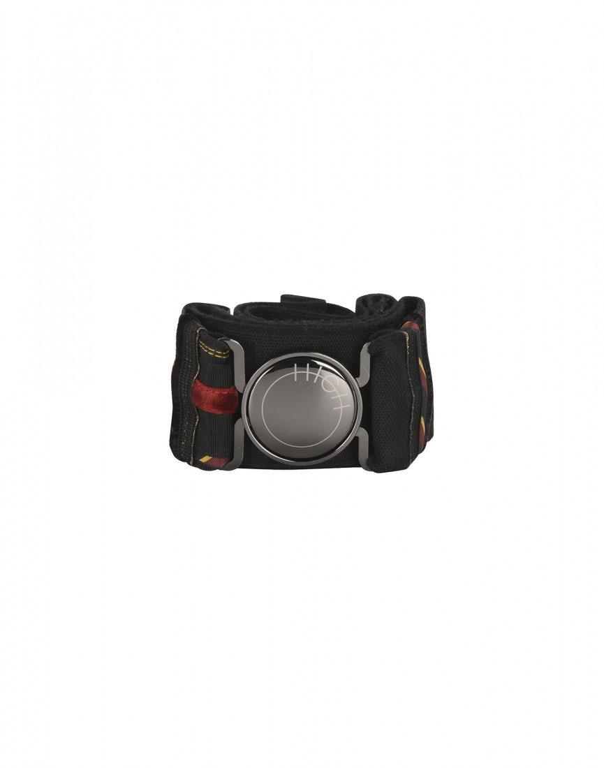 YALE  Ceinture élastique noire à rayures avec un ruban en velours 88feb354c8a
