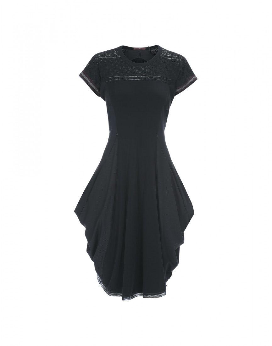 MIKADO  Kleid aus Jersey mit Kanten aus Spitze daad142ff6