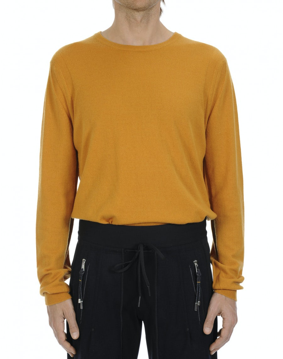 ae27fff4609d3d BLITZ: Maglione in cashmere giallo ocra