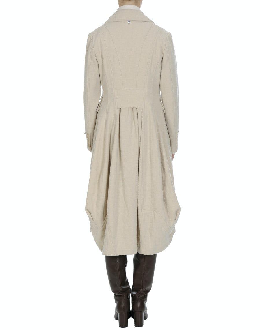 LOYAL: Hose im Herrenstil aus brauner Schurwolle