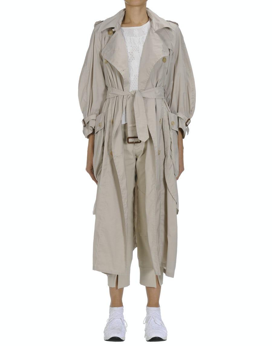 DIALECT: Beige summer trench coat
