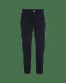 STEFAN: Pantaloni blu navy in twill tecnico