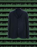 COMMIT: Giacca blu navy in lana cotta