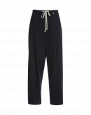 KNOWLEDGE: Pantaloni con pieghe in jersey blu navy