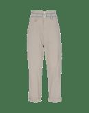 CLAMBER: Pantaloni in mini pied-de-poule beige