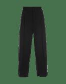 RESOLUTE: Pantaloni leggermente affusolato in lana vergine nera