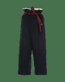 LURE IN: Pantaloni gessati con chiusura a sacchetto