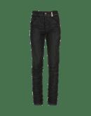ABRUPT: Jeans neri con sgualciture