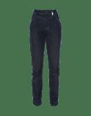 "TRICKSTER: Double belt loop jeans with ""wrinkle-up"" hem"