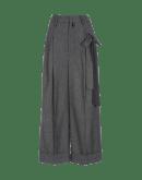 COMPLY: Pantaloni ampi con nastri annodabili laterali