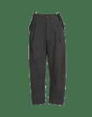 INTENT: Pantaloni ampi con bretelle in cotone rigato