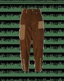 SCOUNDREL: Pantaloni ampi in velluto a coste marrone con tasche