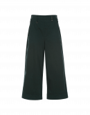 OPTIMUM: Side buttoning pant in winter green cotton