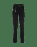 VERVE: Jeans neri in bordi sfrangiati