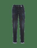 "KICK-OFF: Slim fit jeans in dark ""shadow wash"" denim"