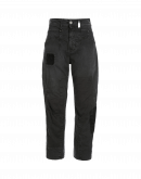 RESOUND: Grey twill multi-patch pants