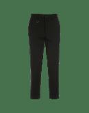 INTEND: Pantaloni dritti in lana vergine nera