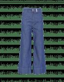 GOODBYE: Nadelstreifenjeans mit weitem Hosenbein