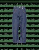SCRAMBLE: Jeans ampi con dettagli in pelle