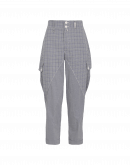 CONTADINA: Pow check and mini gingham bellows pant