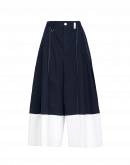 WANDERLUST: Navy and white ultra-wide leg pants