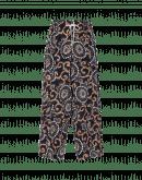 DIVERGE: Wide leg printed silk pant