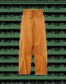 DIVERGE: Pantaloni ampi in seta e cotone color caramello