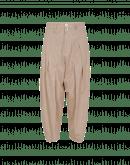 RAPPORT: Full, tapered leg pants in sand gingham