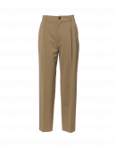 DISCIPLINE: High waisted pants in camel twill