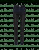 """VERVE: Jeans blu con finitura effetto """"pelle"""" nera"""
