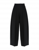 SLEEK: Pantaloni ampi in twill nero